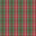 Tartan check plaid texture seamless pattern in red and green. Royalty Free Stock Photo