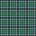 Tartan check plaid texture seamless pattern in yellow, blue and green. Royalty Free Stock Photo