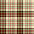 Tartan check plaid texture seamless pattern in yellow, red and green. Royalty Free Stock Photo