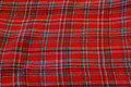 Tartan cloth Stock Image