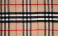 Tartan fabric beige red white and black Royalty Free Stock Photo