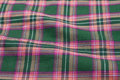Tartan fabric cloth purple and green checkered Royalty Free Stock Photography