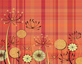 Tartan flowers Royalty Free Stock Photos