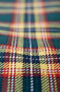 Tartan macro detail of green and yellow checkered fabric Royalty Free Stock Image