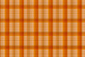 Tartan Orange pattern - Plaid Clothing Table Royalty Free Stock Photo