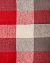 Tartan red and grey material as a background Royalty Free Stock Images