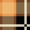 Tartan Seamless Pattern Background. Black and Beige Plaid, Tartan Flannel Shirt Patterns. Trendy Tiles Vector Royalty Free Stock Photo