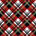 Tartan Seamless Pattern Background. Black, Red and White Plaid, Tartan Flannel Shirt Patterns. Trendy Tiles Vector Illustration fo Royalty Free Stock Photo