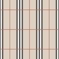 Tartan seamless pattern beige and white