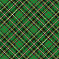 Tartan seamless pattern,diagonal background.Green Royalty Free Stock Photo