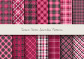 Tartan seamless patterns. Vector illustration