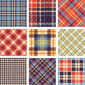 Tartan  set Stock Photo