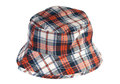 Tartan summer hat on white background Stock Photography