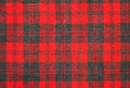 Tartan wool red and grey fabric Royalty Free Stock Images