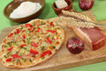 Tarte flambee Stock Photo
