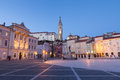 Tartini square in piran slovenia europe famous Stock Image