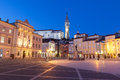 Tartini square in piran slovenia europe famous Royalty Free Stock Photos