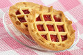 Tartlet with cherry jam Royalty Free Stock Photography