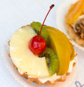 Tartlets with fruit Royalty Free Stock Photo