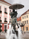 Tartu: kissing students fountain Royalty Free Stock Photography