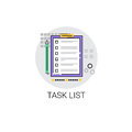 Task Check List Paper Document Icon Royalty Free Stock Photo