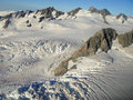 Tasman Glacier Aerial New Zealand Royalty Free Stock Photos