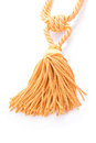 Tassel golden curtain interior decoration Royalty Free Stock Photography