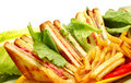 Tasteful club sandwich Royalty Free Stock Photo