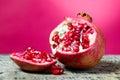 Tasteful fruit garnet Royalty Free Stock Photo