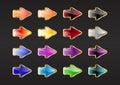 Tasti della freccia Fotografie Stock