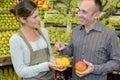 Tasting free sample fruit
