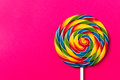 Tasty appetizing Party Accessory Sweet Swirl Candy Lollypop on P
