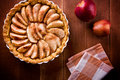 Tasty apple pie close up of a homemade Stock Photos
