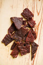 Tasty beef jerky Royalty Free Stock Photo