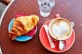 Tasty breakfast in a Parisian street cafe Royalty Free Stock Photo