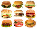 Tasty burgers,  fast food Royalty Free Stock Images