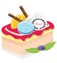 Tasty cake is a form of bread or bread like food in its modern forms it is typically a sweet baked dessert in its oldest forms Royalty Free Stock Image