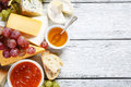 Tasty cheeses on the boards food Stock Photo