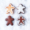 Tasty Christmas gingerbread men Royalty Free Stock Images