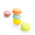 Tasty colorful macaroon dessert photo of Royalty Free Stock Photography