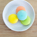 Tasty colorful macaroon dessert photo of Royalty Free Stock Photo