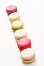 Tasty colorful macaroon on the white Royalty Free Stock Photography
