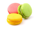 Tasty colorful macaroon on white Stock Image