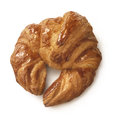 Tasty croissant on white background fresh and polished with syrup clipping path pastry Stock Images