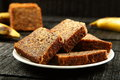 Tasty Delicious banana cake slices. Royalty Free Stock Photo