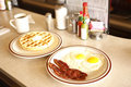 Tasty diner breakfast Royalty Free Stock Images