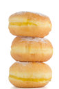 Tasty donuts closeup detail of isolated on white background Stock Photo