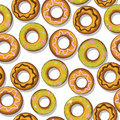 Tasty donuts pattern Stock Photos