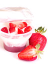 Tasty fresh strawberry smoothie photo for a design Royalty Free Stock Images