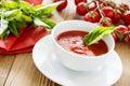 Tasty fresh tomato soup Royalty Free Stock Photo